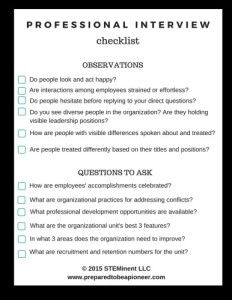 Interview Checklist
